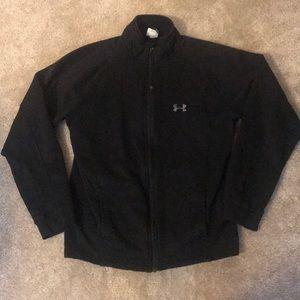 Fleece Lined Black Zip Up Jacket